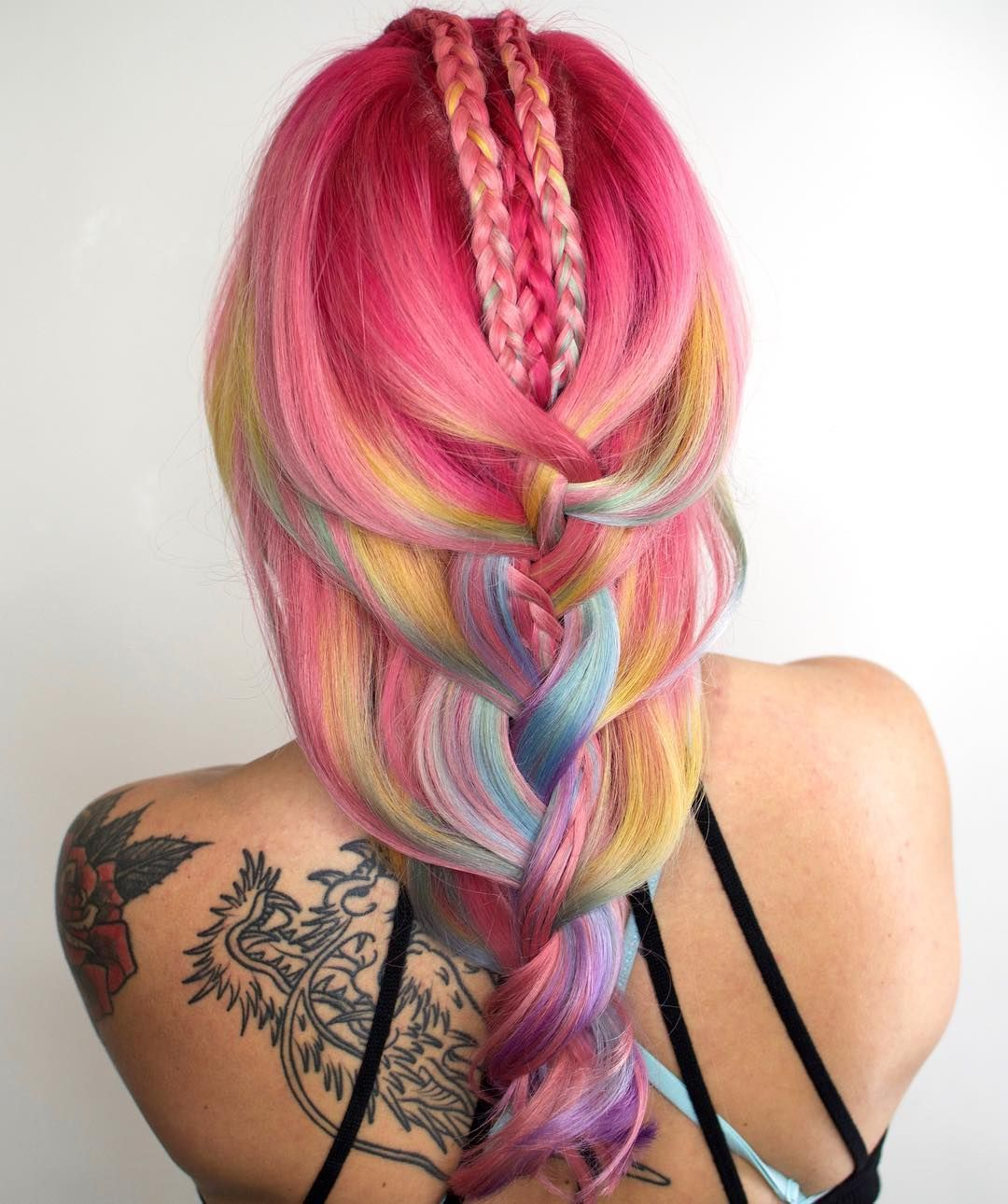 cotton candy hair pastel mermaid