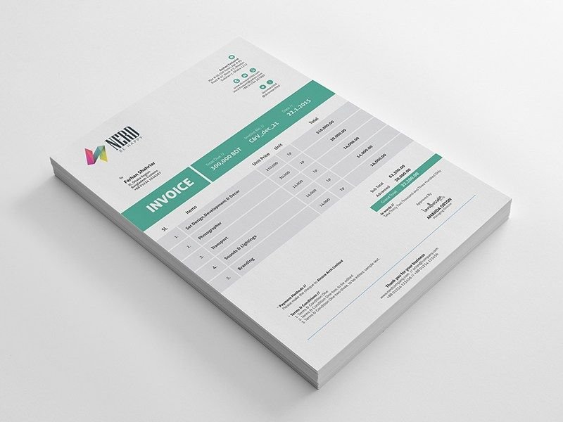 Invoice Templates PSD DOCX INDD Free Download Httpwww - Graphic design invoice template free download