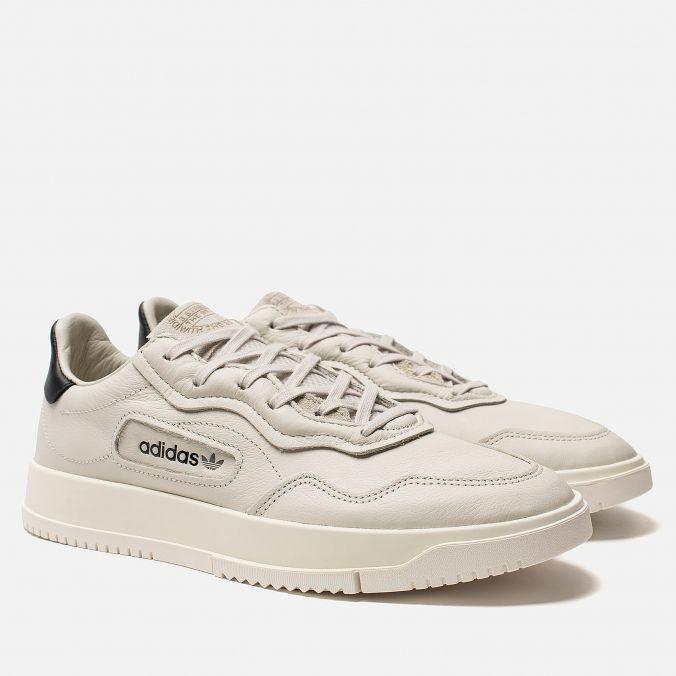 e92e9cd3 Мужские кроссовки adidas Originals Super Court Premiere Raw White/Core White /Off White CG6239