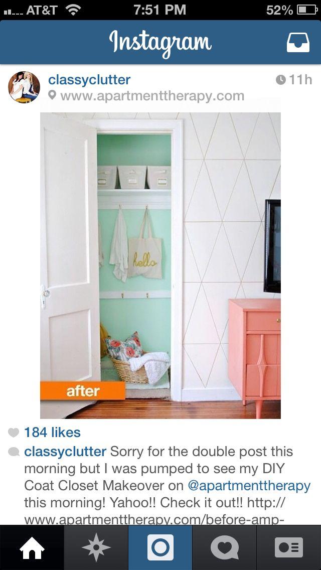 Paint closet bold | Home diy, Closet makeover, Closet colors