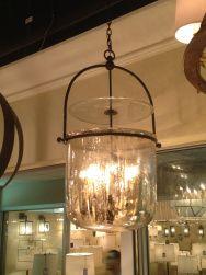 Lorford Smoke Bell Lantern In Aged Iron And Mercury Glass