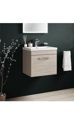 Drench Emily 500mm Wall Mounted 1 Drawer Vanity Unit And