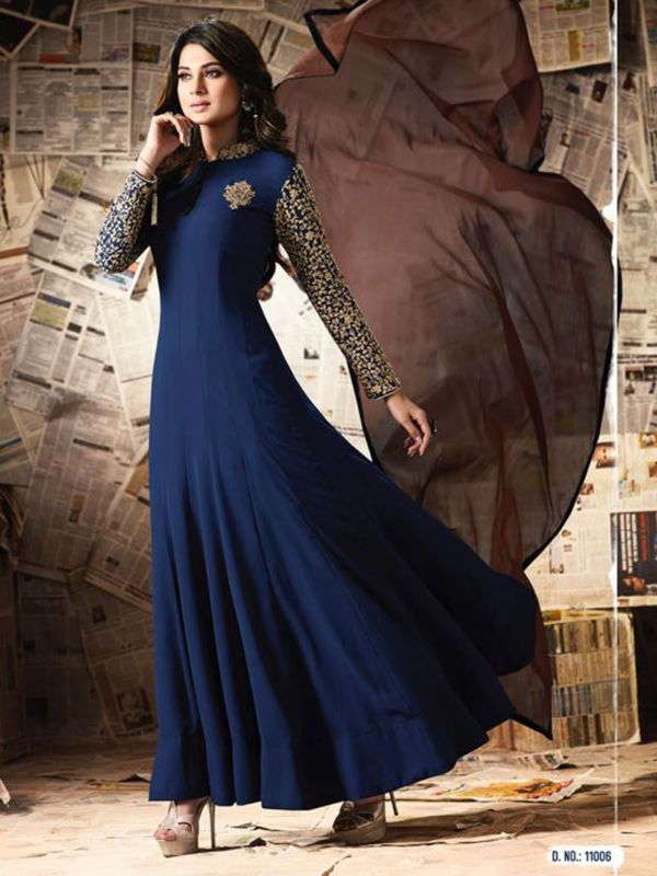 Designer anarkali salwar kameez suits indian ethnic pakistani bollywood new 3