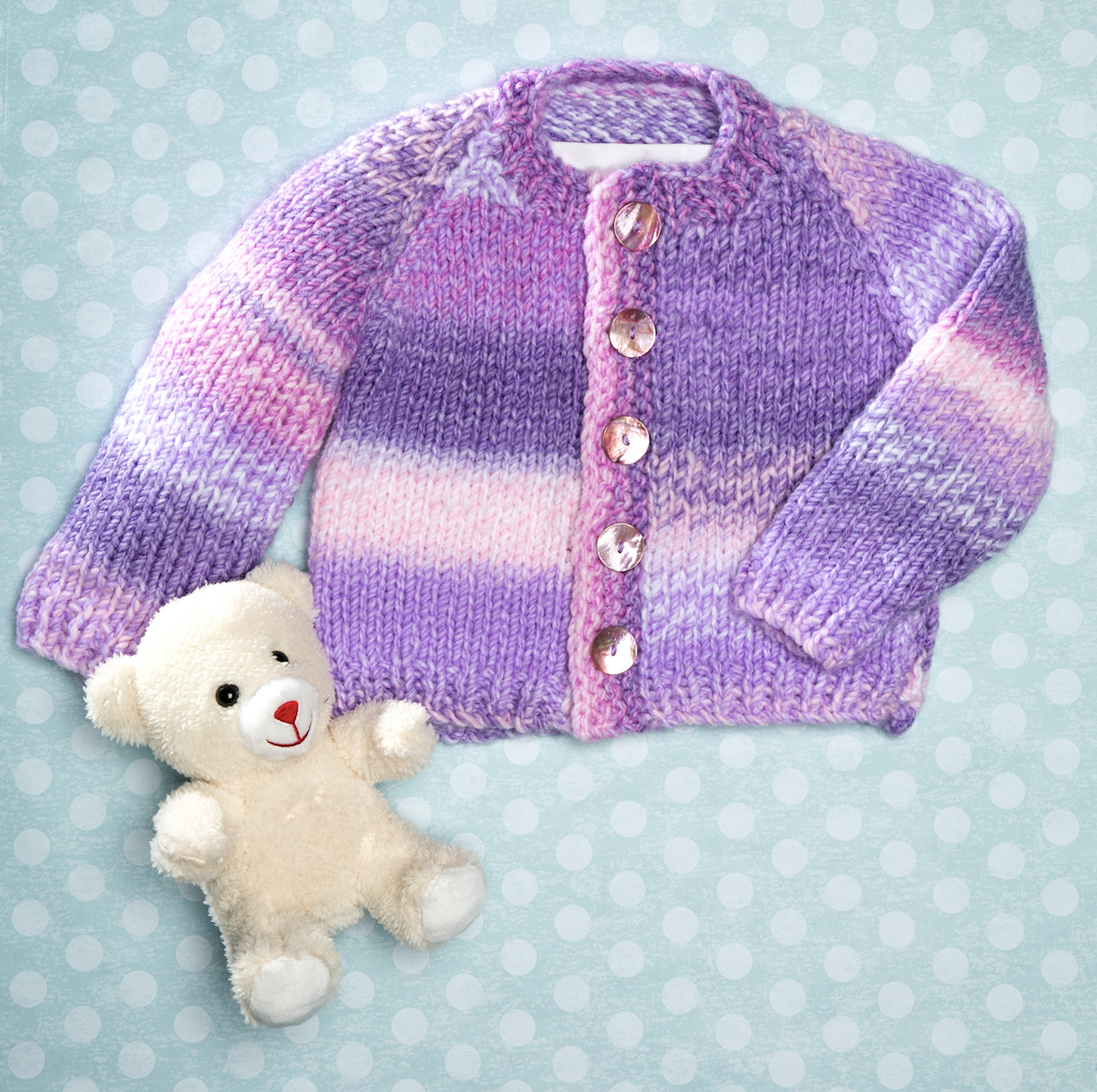 Craft Passions: Easy baby Cardigan..# free #Knitting #pattern link ...