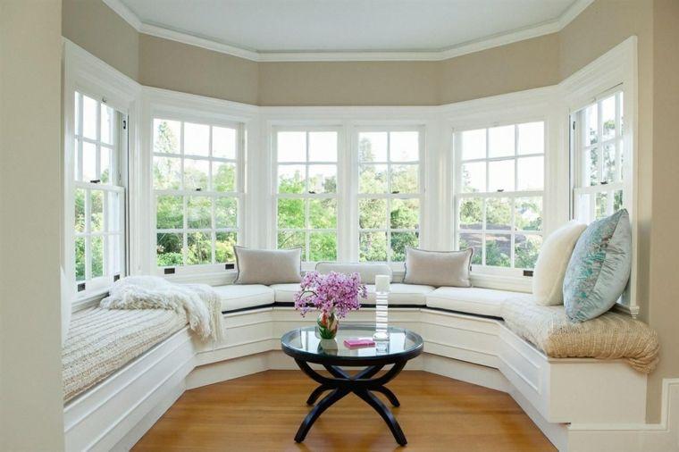 Ventanas Modernas Con Asientos En El Interior Ventanas Modernas Decoracion De Interiores Dormitorios Matrimoniales Ventanas Para Casas