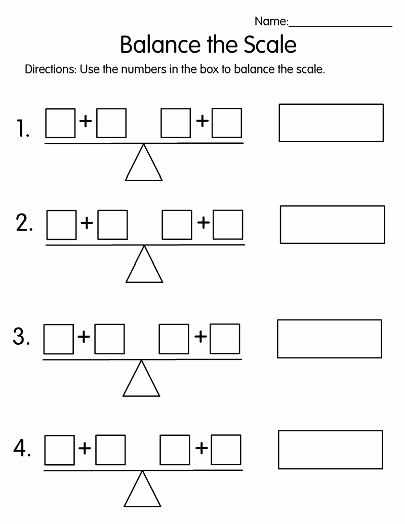 Balance The Scale Commutative Property Math Notebooks Math