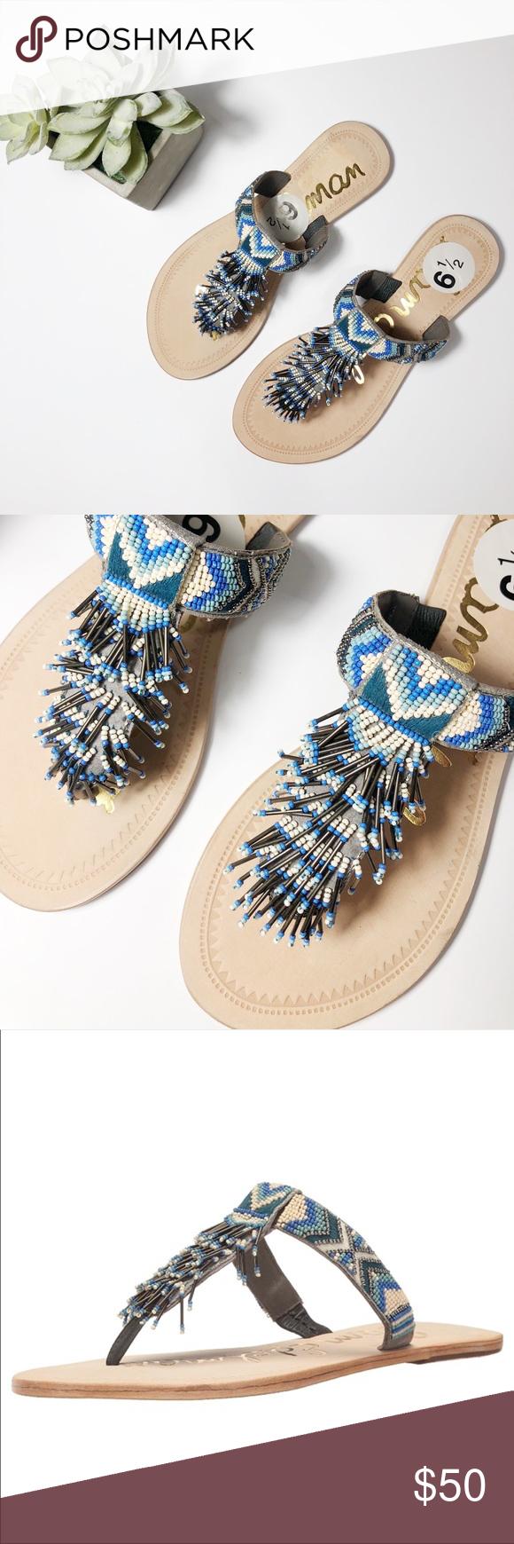 d65e8d01ac5c Sam Edelman anella beaded thong sandals brand new sam edelman anella sandals