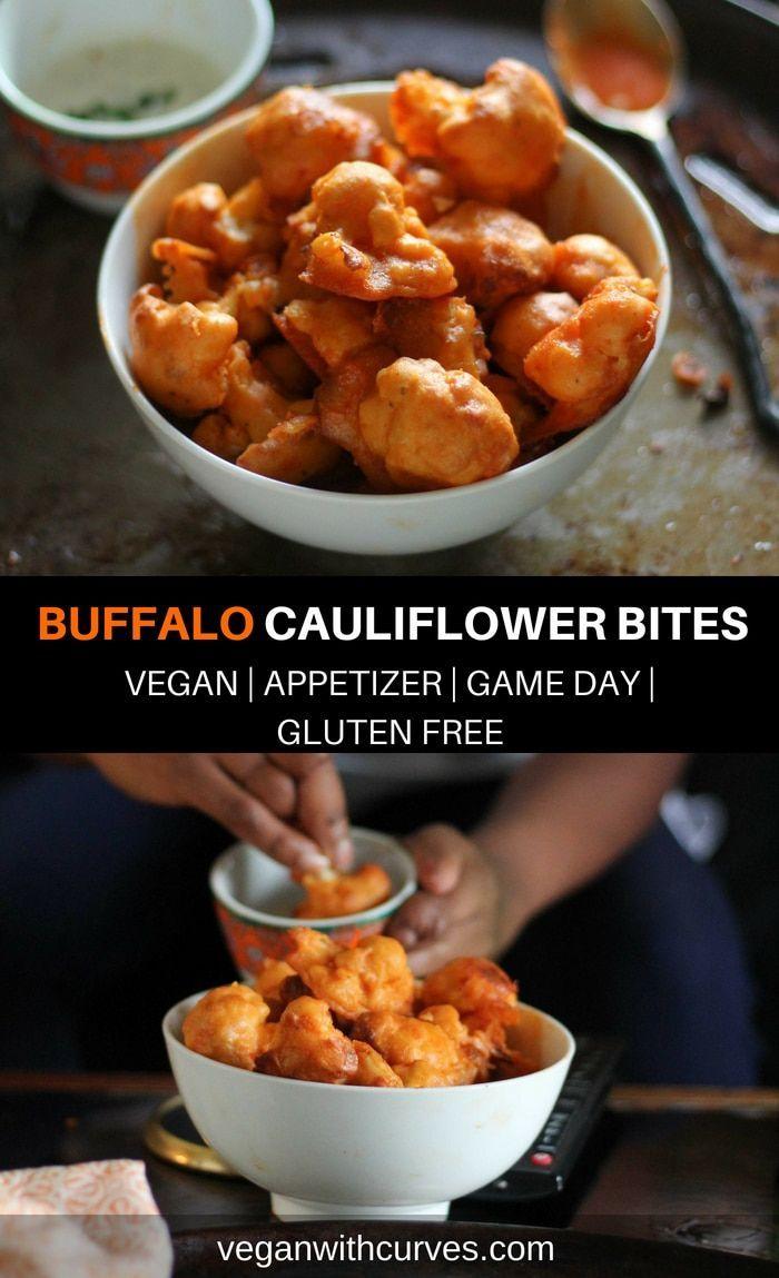 Vegan Buffalo Cauliflower Bites