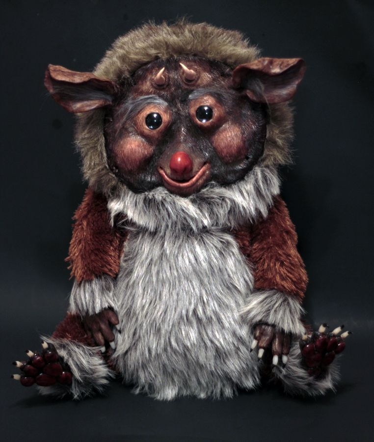 OOAK Original Art Doll Plush Fantasy Creature by Refabrications #sculpt #polymerclay #fur #fauxfur #monster #ooakdoll #artdoll #creature #cute #plush #stuffedanimal #art #doll #ooak #weird #adorable #refabrications #clay #sculpted