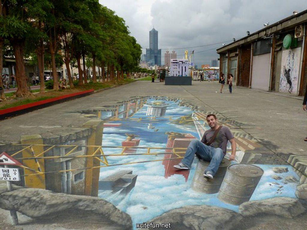 3d Art On Sidewalks Amazing 3d Sidewalk Art Photos Funny Strange 3d Sidewalk Art Sidewalk Art Street Art Artists
