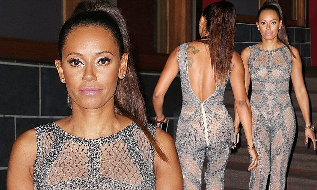 Mel B turns heads in see-through jumpsuit after taping AGT in West Hollywood | Daily Mail Online