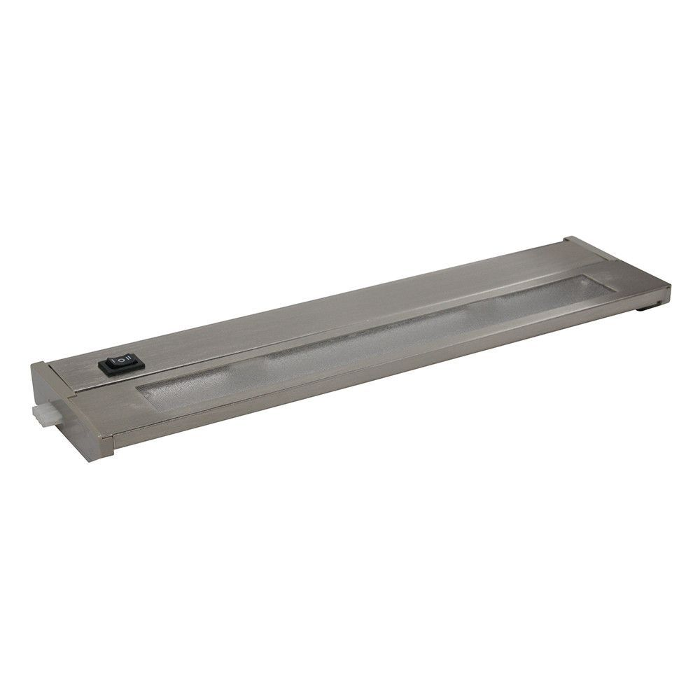 Priori Brushed Steel 14 Inch Two Light Xenon Under Cabinet Light Under Cabinet Lighting Cabinet Lighting Brushed Steel