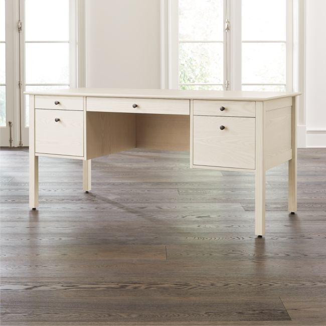 Ainsworth Cream Executive Desk | Crate and Barrel