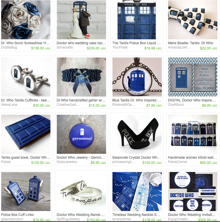 Doctor Who Wedding Treasury On Etsy. Includes Wedding Invitations, Gifts,  And Accessories.