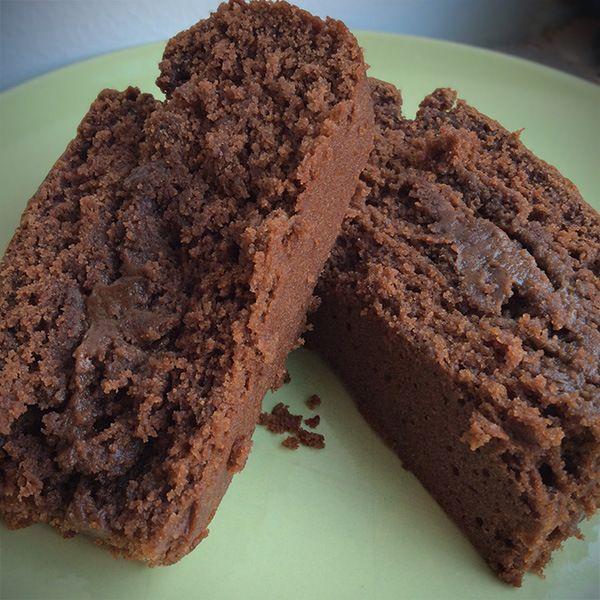 Chocolate cake made with vegan mayonnaise Just Mayo