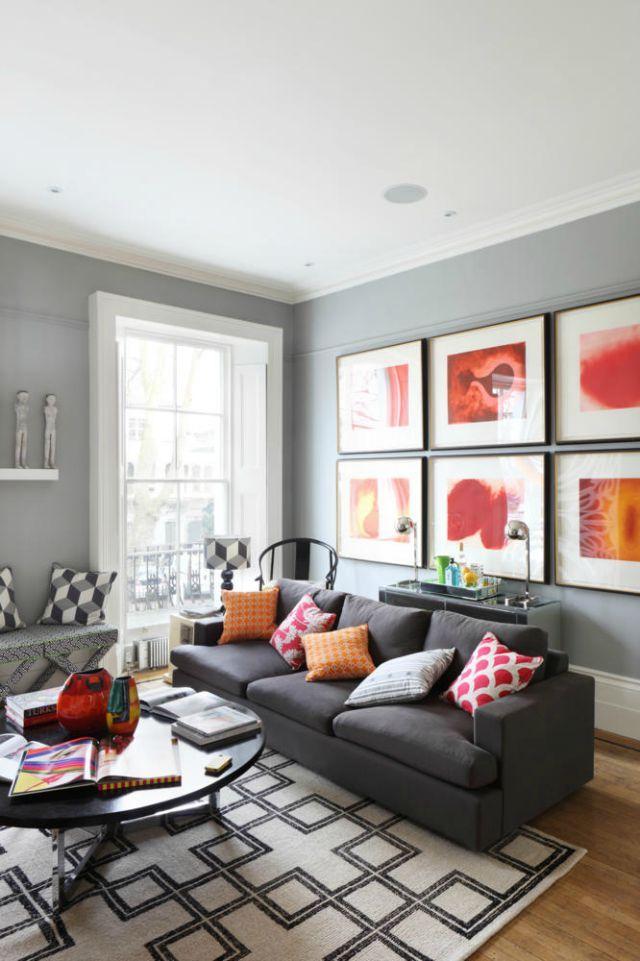 Inspiraci n 10 salones en gris salones pinterest decoracion salones decoraci n hogar y - Inspiracion salones ...