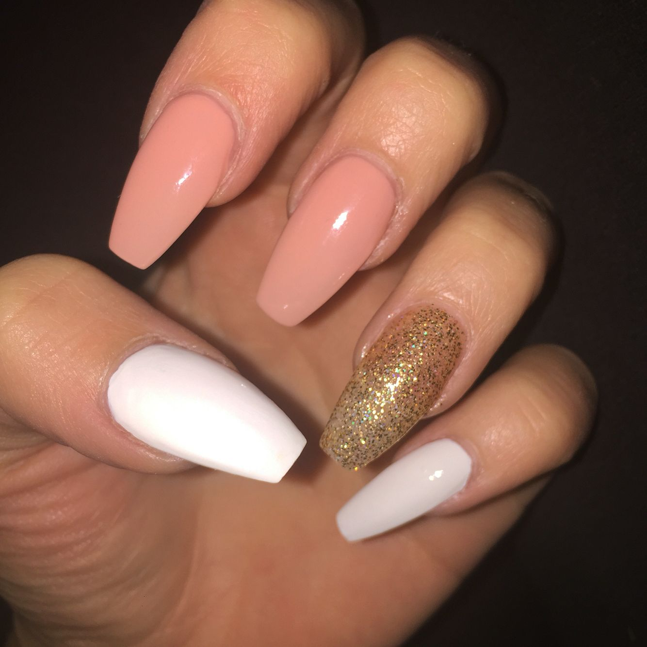 Simple nails | Simple acrylic nails, Fall acrylic nails ...
