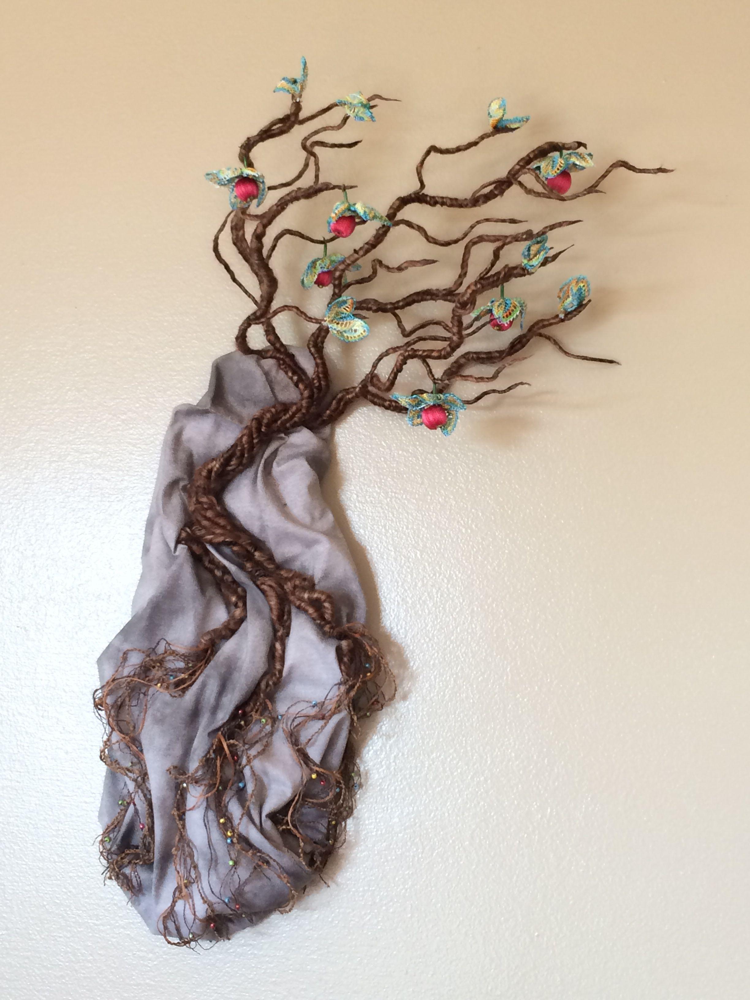 A Survivor    -Fiber Art by Bonnie Samms-Overley www.BonnieSamms-Overley.com