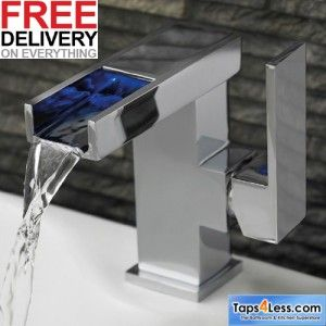 taps4less.ie - waterfall LED tap new
