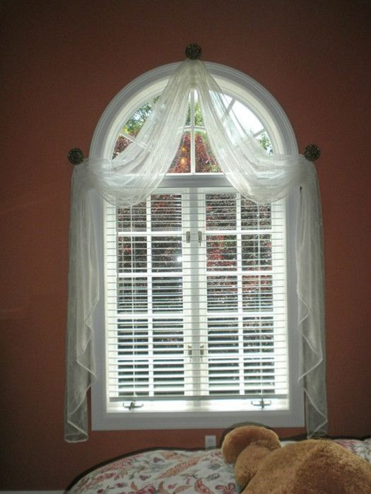 Arched top window treatments 1 pinterest window for Arch top windows