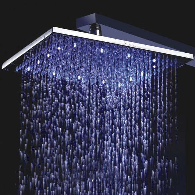 Led Rainfall Showerhead Led Shower Head Brass Shower Head