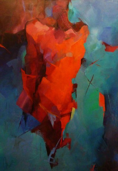 Rote Splitter Von Larissa Strunowa Luebke At Artists De Kunstler Kunst Und Kunstwerke Abstrakte Kunst Malerei Kunstwerke Kunst