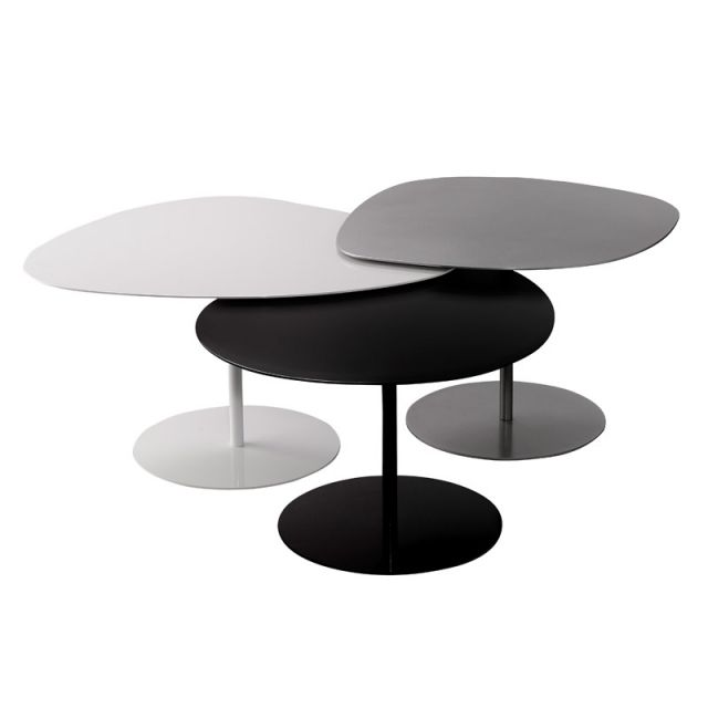 Table Basse 3 Galets Matiere Grise Table Basse Table Basse Galet Table Basse Gigogne
