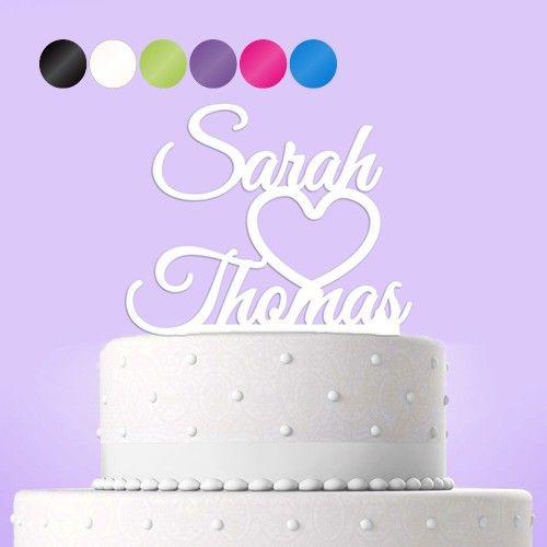 Cake Topper Tortendekoration Acryl Vornamen Personalisiert Mit