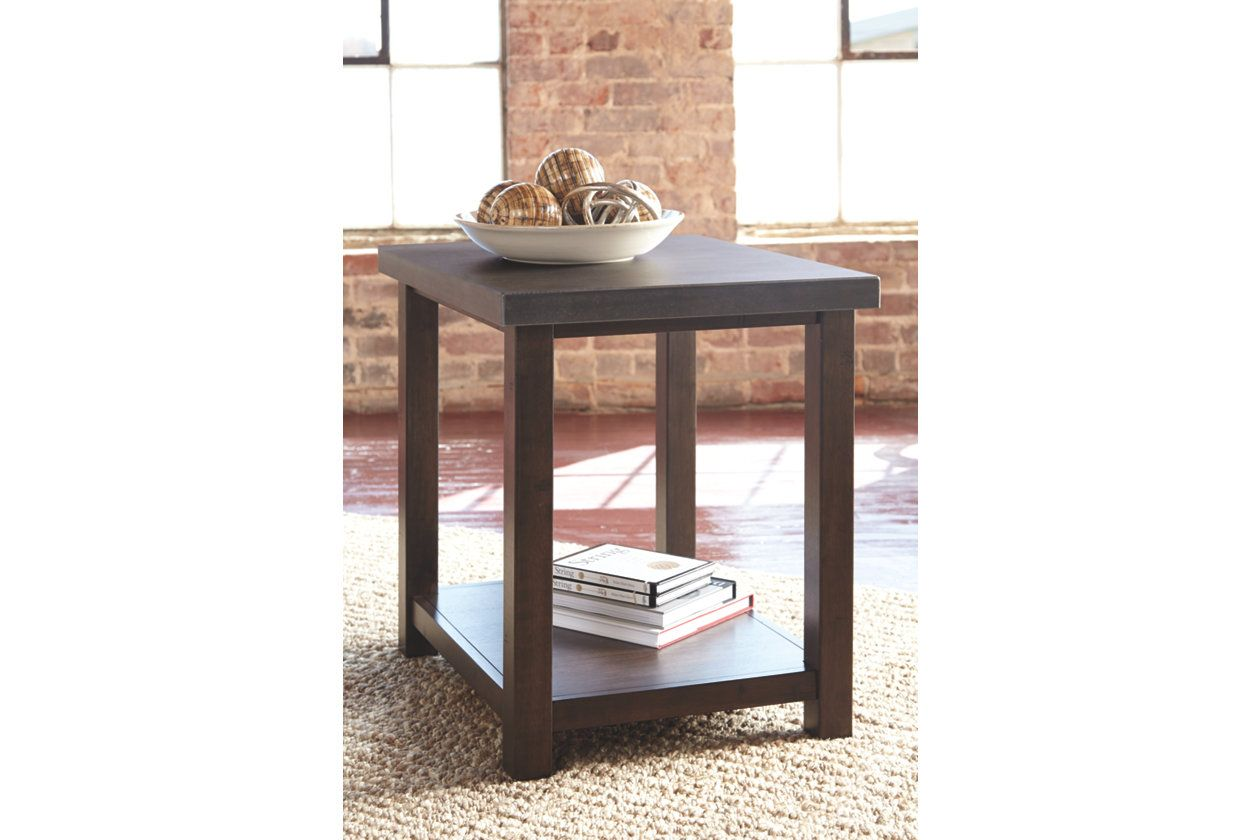 Starmore Chairside End Table With Images Rustic Side Table