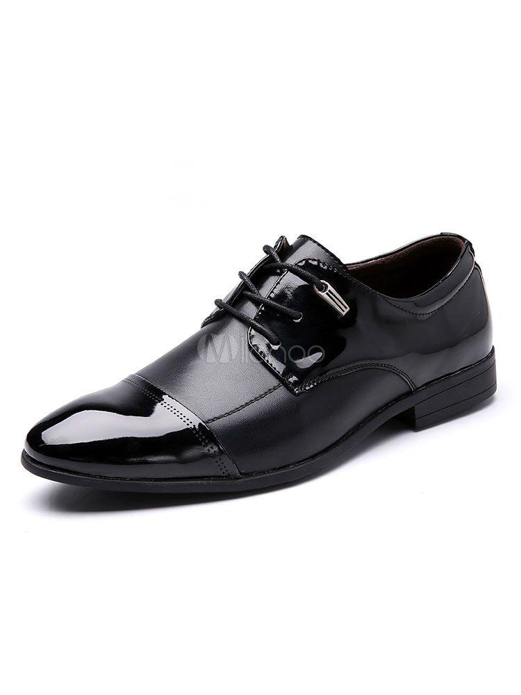 low priced 8cfd7 32359 Zapatos de vestir de color marrón Zapatos de hombre Zapatos de negocios con  cordones de punta estrecha - Milanoo.com