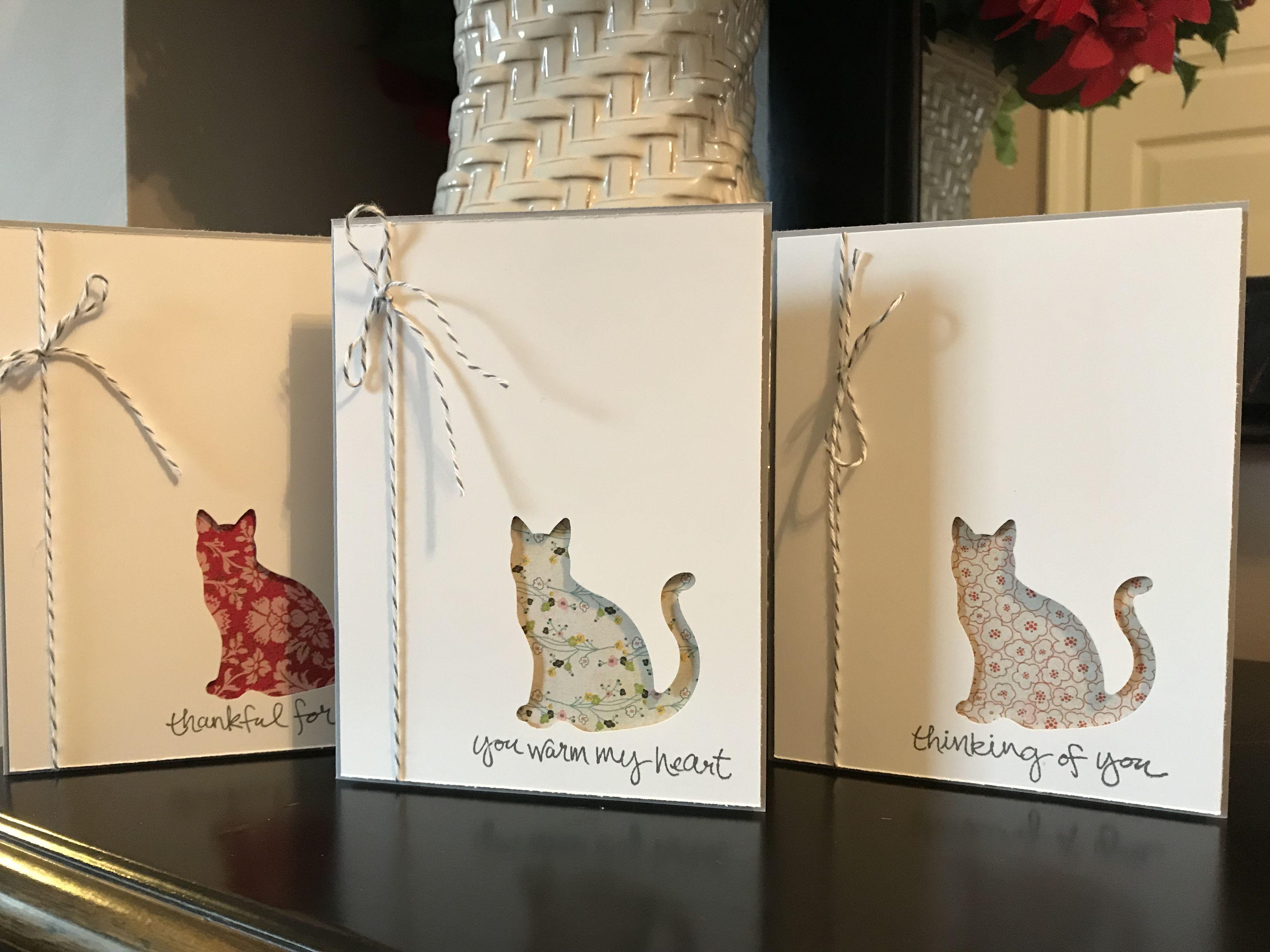 Сделать открытку с кошками