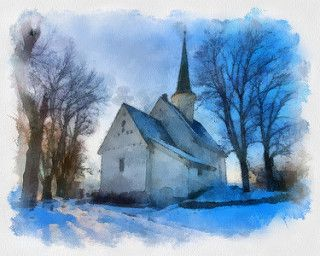 NANNESTAD CHURCH IN NORWAY BY KAI KROG HALSE. Dynamic Auto Painter is a sophisticated set of digital brushes and controls allowing creation of paintings based on reference photos. With skill these digital paintings and those of traditional media are indistinguishable. Now scroll through Pinterest pins of high quality Dynamic Auto Painter artwork and see if you are not impressed with digital paintings. SEE MORE DIGITAL PAINTING AS ART NOW.... https://richard-neuman-artist.com/works