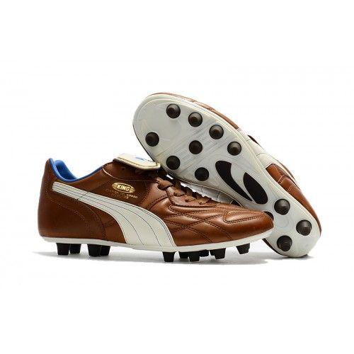 Puma King Top MII CHROME FG Football Boots Brown