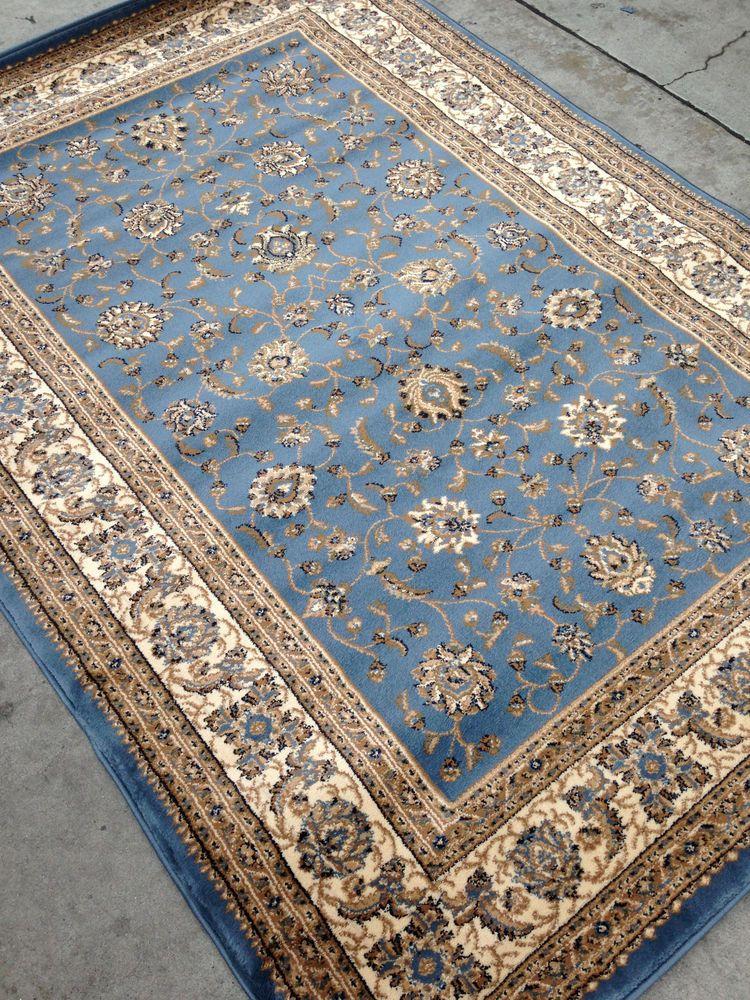 Light Blue Persian Style Oriental Area Rug 8x10 8 X 10 Tabriz Rugs