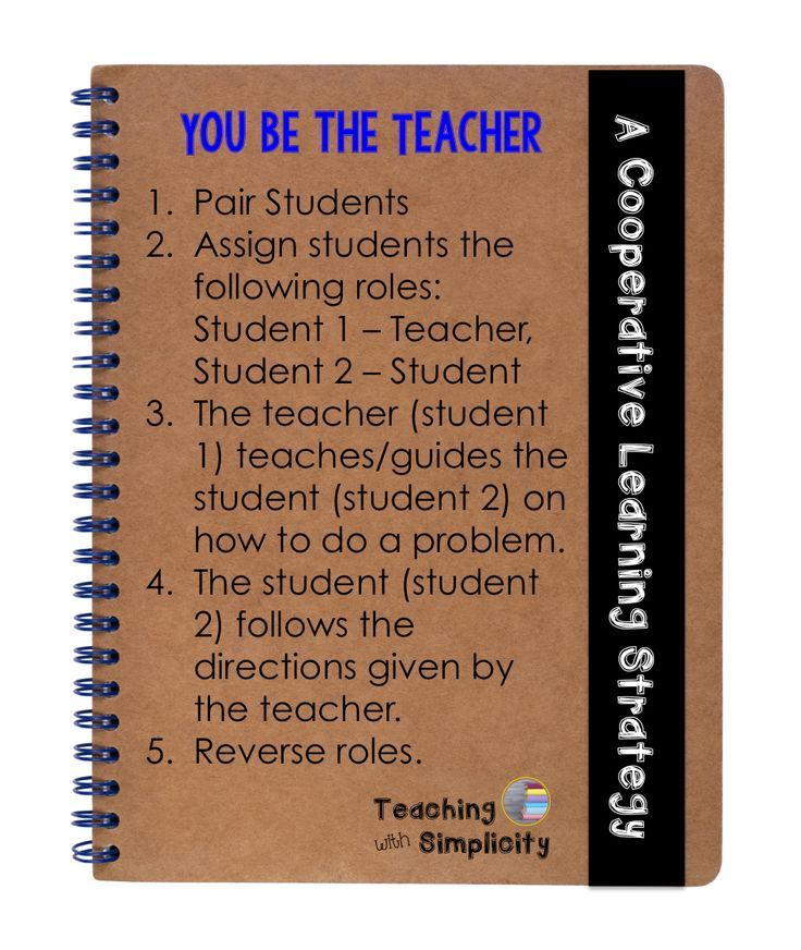 Collaborative Teaching Fellowship ~ You be the teacher a cooperative learning strategy la