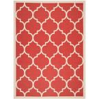 Photo of Safavieh Courtyard Red/Bone 9 ft. x 12 ft. Indoor/Outdoor Area Rug-CY6914-248-9 – The Home Depot