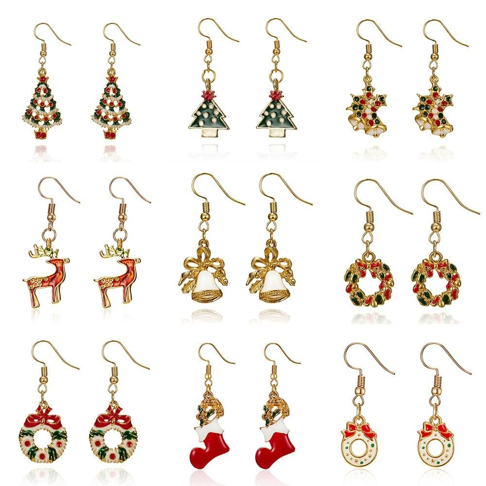 Fashion Women Santa Claus Snowman lovely Tree Bell New Year Christmas Gift Earring For Women Girl Children Festival Jewelry  7 is part of Festival jewelry, Christmas gift earrings, Earring gifts, Women's earrings, Silver flower earrings, Unicorn necklace - Brand Name rinhooMetals Type Stainless SteelItem Type EarringsModel Number 14H3AC012Shapepattern PLANTGender WomenEarring Type Drop EarringsStyle ClassicFine or Fashion FashionMaterial Metalis customized Yesfine or fashion fashioniscustomized yesmaterial gold plated