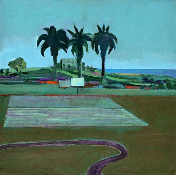 Theophilus Brown (American, 1919-2012), Landscape with Palms, 1967