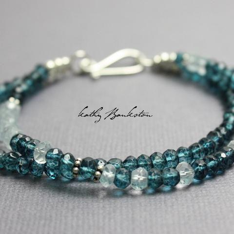 London Blue Quartz and Aquamarine Bracelet