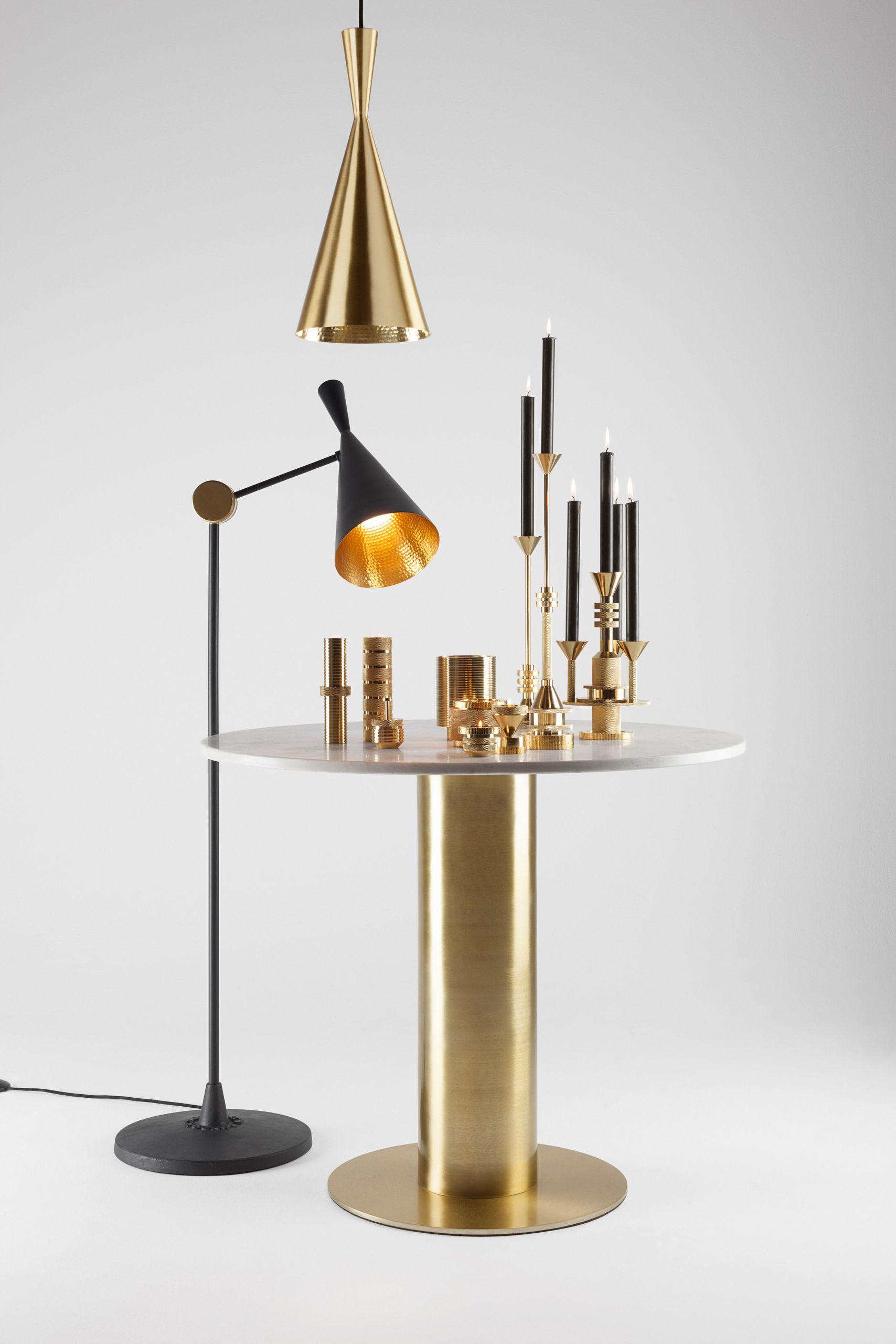 Cog And Beat By Tom Dixon More Brass Design From Tom Dixon Photography By Peer Lindgreen Tom Dixon Floor Table Lamps Black Floor Lamp