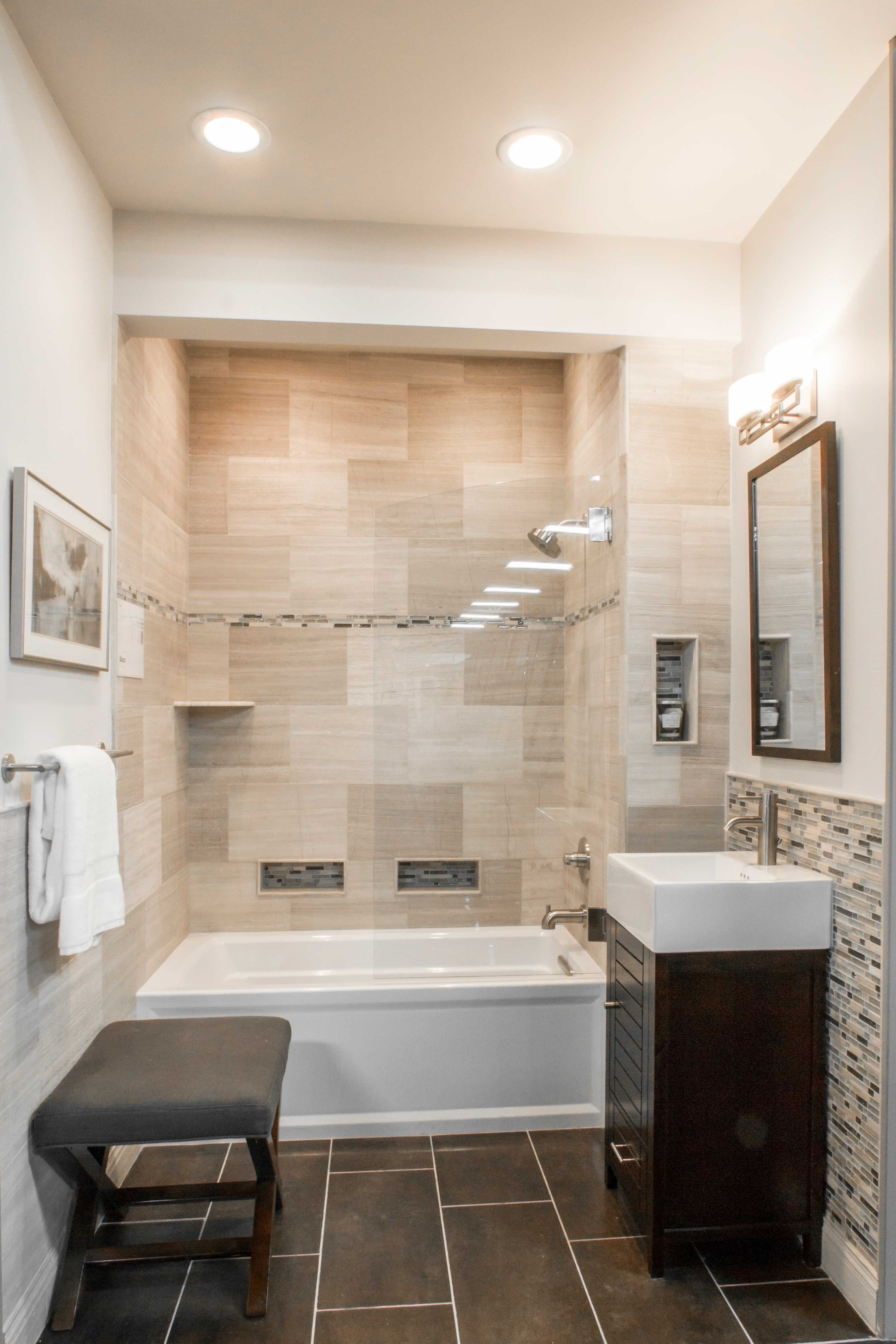 Traditional Transitional Or Contemporary Decor Bathroom Wall Tile Legno Travertine