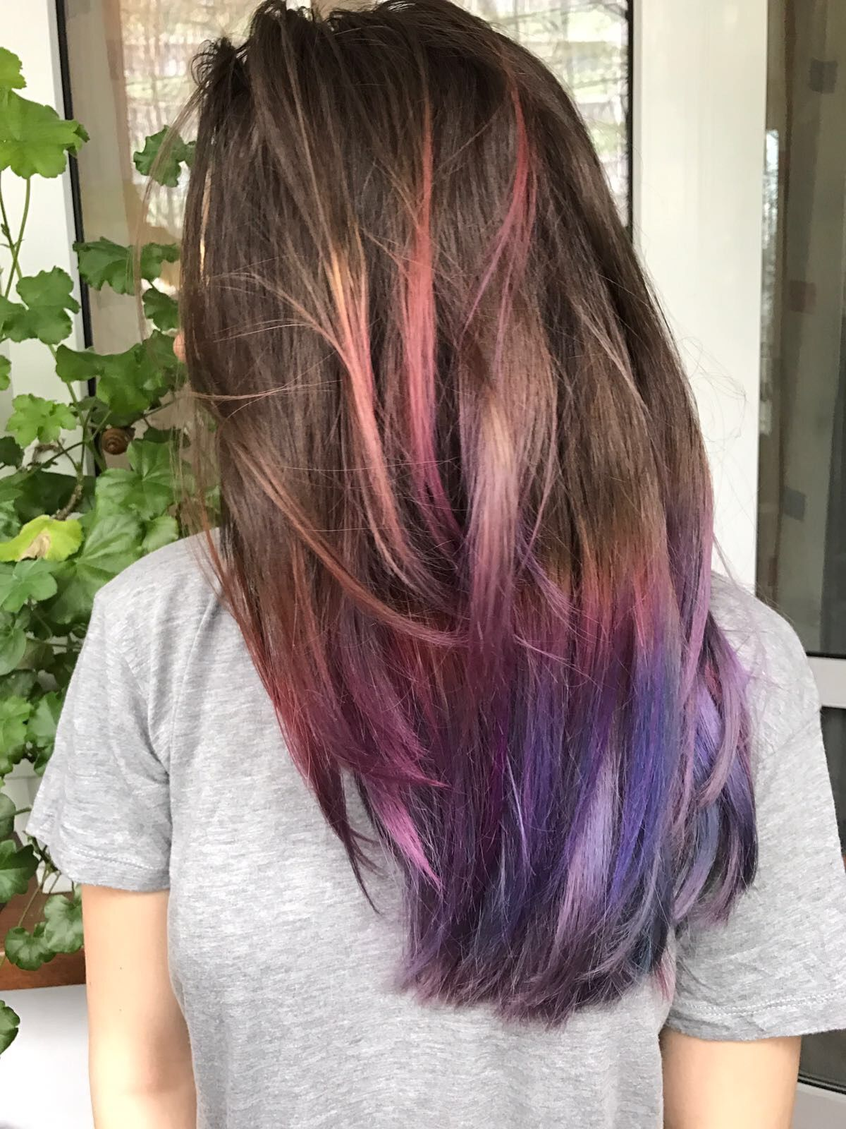 Brown to Purple Ombre BM® | Light purple hair, Purple ...