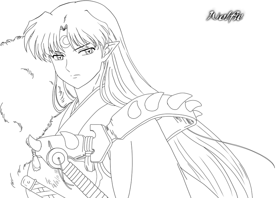 Sesshomaru | Coloring Pages - People | Pinterest