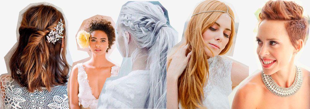Una selección de peinados para novias alternativos, ideal para quienes buscan una propuesta diferente a lo que estamos acostumbradas a ver.