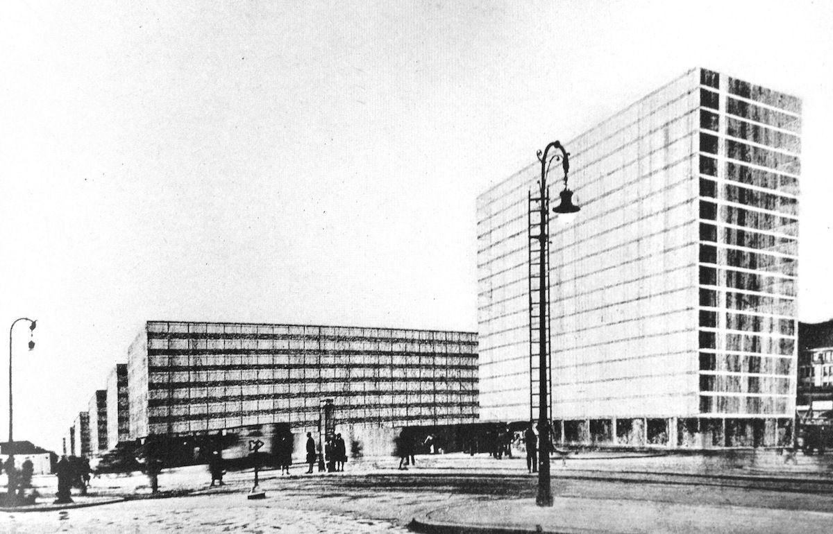 Project montage - Alexanderplatz remodeling - Berlin - 1928 ...