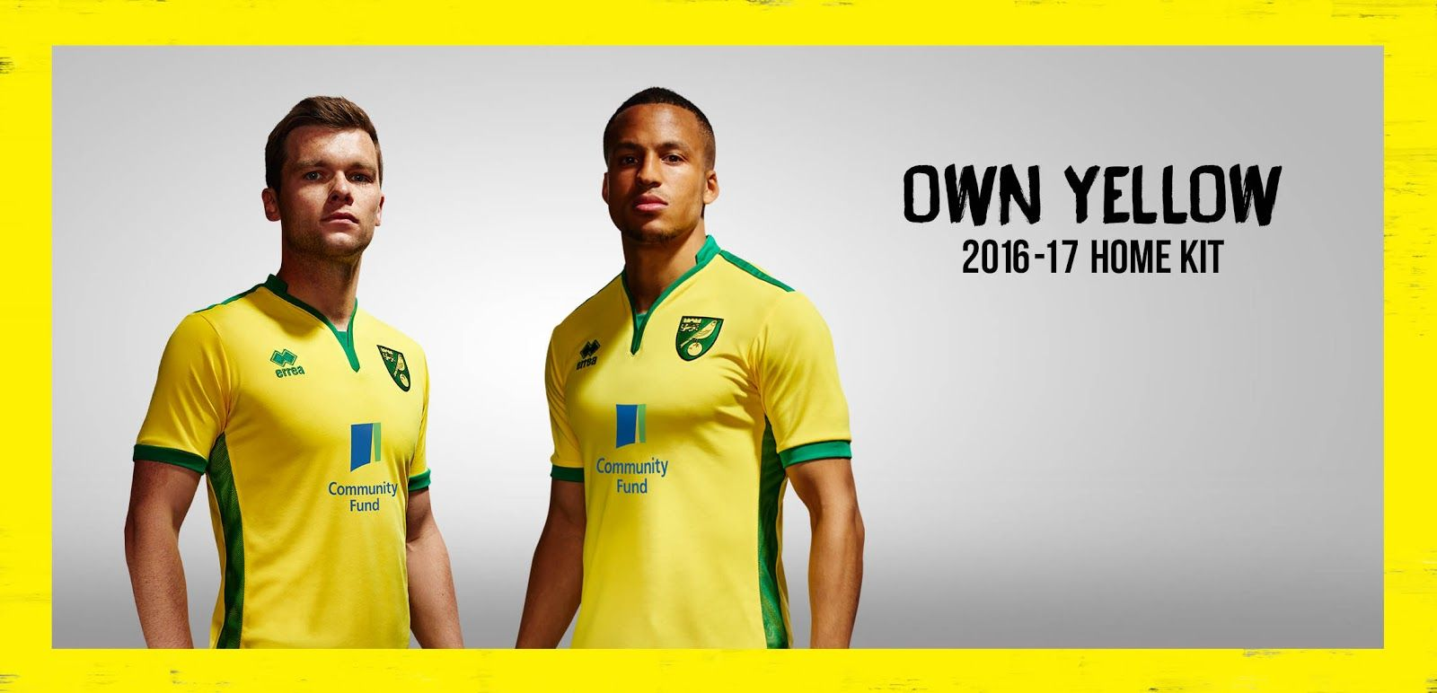 The new Norwich home kit introduces a modern, stylish and retro feel.