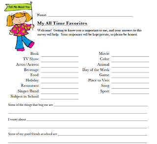 All About Me Student Survey | Ideas for school | Student ... 10 Questions About Me Survey