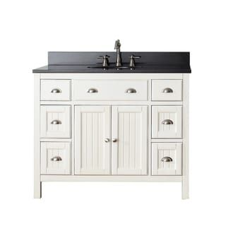 Avanity Hamilton French White 42 Inch Vanity Combo With Top And