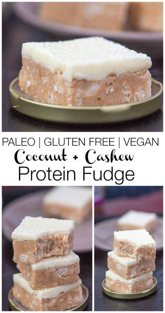 Paleo Cashew Coconut Protein Fudge- A delicious, low calorie, sugar free, no bake #recipe which is completely #paleo #glutenfree and with a #vegan option- Just FOUR ingredients to make the fudge and TWO for the icing! -thebigmansworld.com