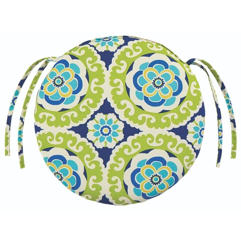 Home Decorators Collection Halina Wasabi Round Outdoor Seat Cushion